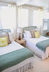 Twin beds in a guest room nautical themed guest room with twin beds