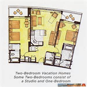 Bay Lake Tower One Bedroom Villa Floor Plan by Bay Lake Tower Floorplan
