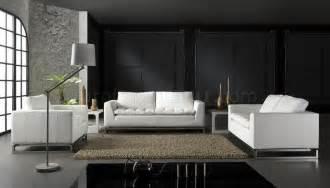 top grain leather 3 modern living room set manhattan white