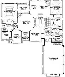 Two Master Bedroom Floor Plans by 654269 4 Bedroom 3 5 Bath Traditional House Plan With