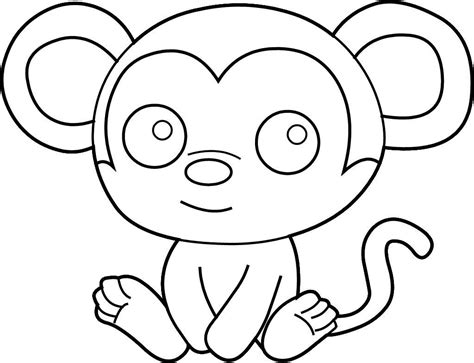 color monkey easy coloring pages best coloring pages for