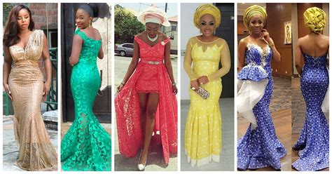 latest lace styles 2016 20 latest and most recent asoebi in lace style