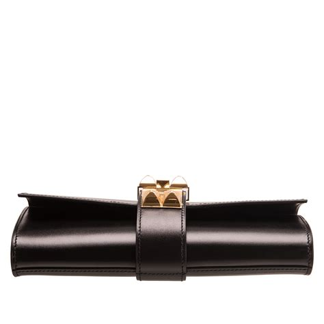 Clutch Wanita Fashionable Black Clutch hermes medor clutch 23cm black box gold hardware world s best