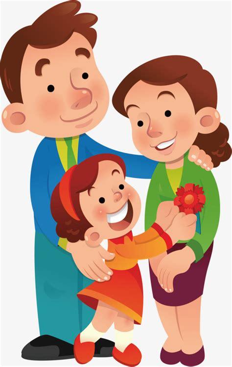 imagenes sobre la familia animada la familia de dibujos animados una familia de tres padre