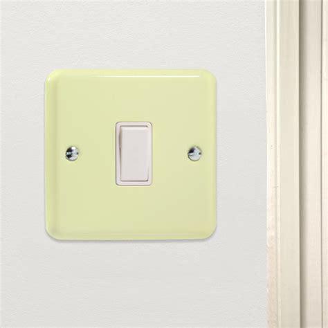 rocker light switch retro pastel white chocolate rocker light switch 1