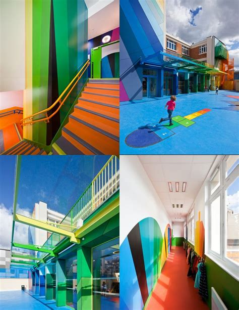 Paris schools color kids kindergarten architecture school design