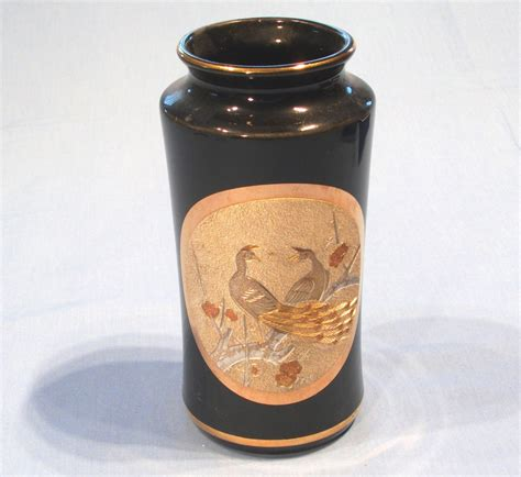 Chokin Vase japanese chokin vase black sold collectable china