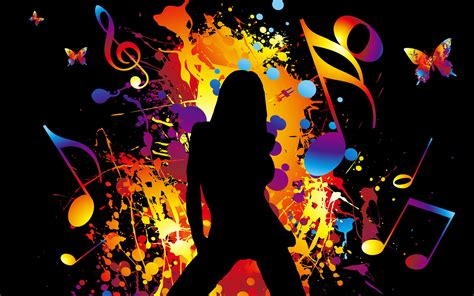 abstract disco girl widescreen wallpaper wide wallpapersnet