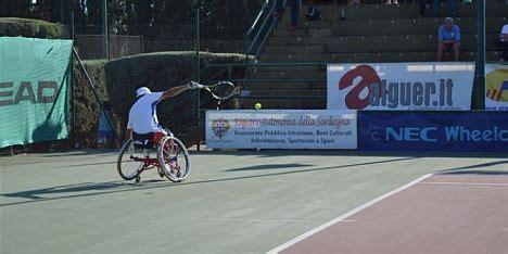 tennis porto torres wheelchair tennis semaforo verde per i sardinia open vd