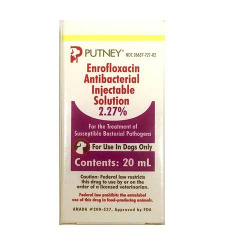 enrofloxacin for dogs enrofloxacin antibacterial injectable solution 20 ml for dogs