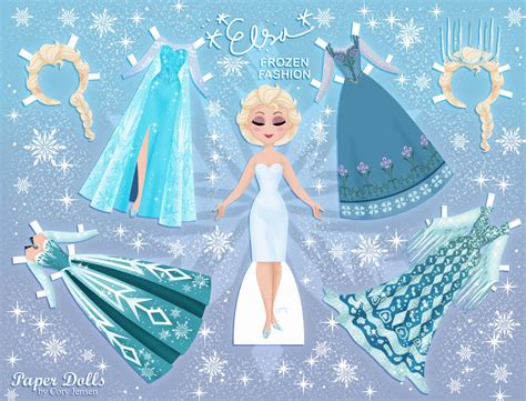 printable frozen paper dolls free coloring pages of dress up doll cut outs