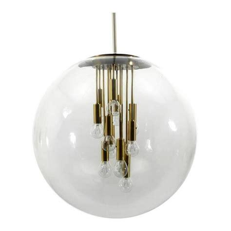 Large Globe Pendant Light Large Doria Brass Globe Pendant At 1stdibs