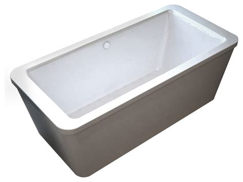 lautrec rectangular freestanding air jetted bathtub with