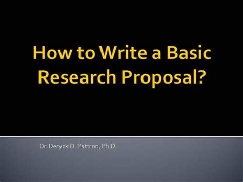How To Make A Paper Presentation - how to write a basic research authorstream