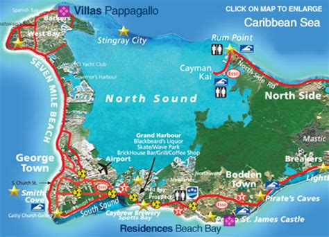 printable map grand cayman island road map grand cayman