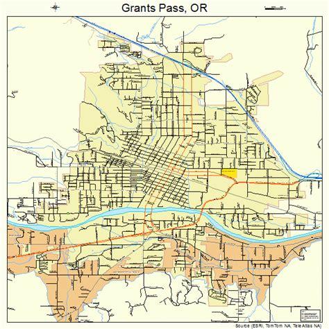 map of oregon grants pass grants pass oregon map 4130550