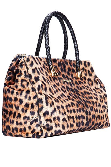 Just Cavalli Animal Print Shoulder Bag by Just Cavalli Leopard Print Tote Bag Multicolor 365ist