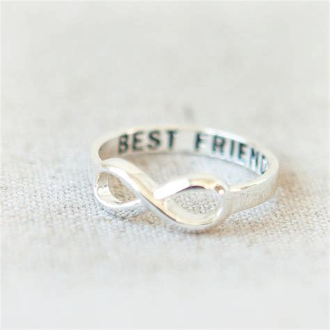 best friends infinity ring in silver from laonato on etsy