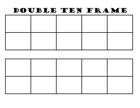 ten frame template 6 best images of 10 frame template printable blank