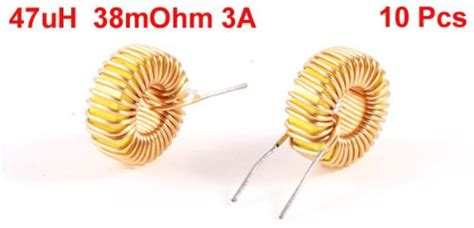 47uh 3a inductor best uxcell a13071500ux0198 10 toroid inductor wire wind wound 47uh 38mohm 3