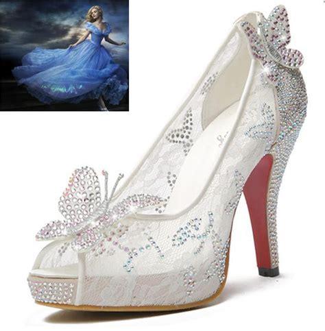 glass high heels 2015 bling lace high heels sheer glass wedding