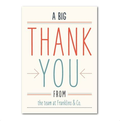 thank you card templates 17 business thank you cards free printable psd eps