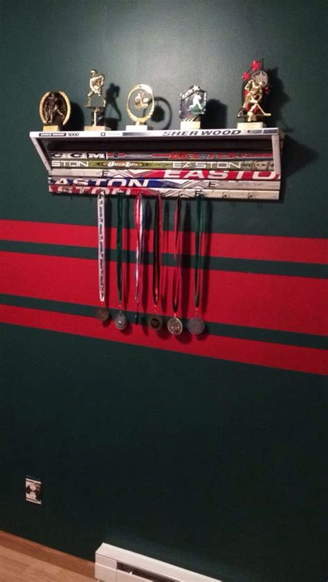 hockey bedroom decor hockey stick shelf nhl news pinterest hockey