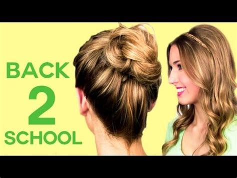 easy back to school hairstyles no heat 4 no heat back to school hairstyles rachhloves