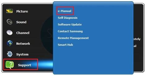Samsung E Manual by Where Do I Find The E Manual On My Tv Samsung Support Uk