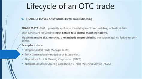 omgeo ctm workflow guide to otc trading