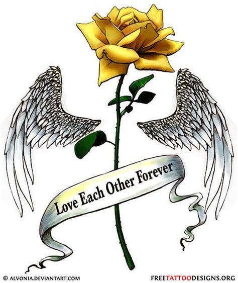 yellow rose memorial tattoo 50 tattoos meaning