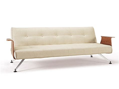 sofa bed no legs khaki sofa bed convertible with walnut arms and chrome
