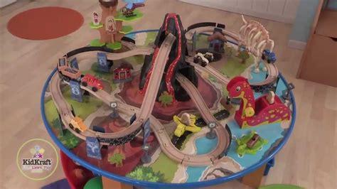 Train Tables With Storage Dinosaur Train Table Wooden Train Set Kidkraft Youtube