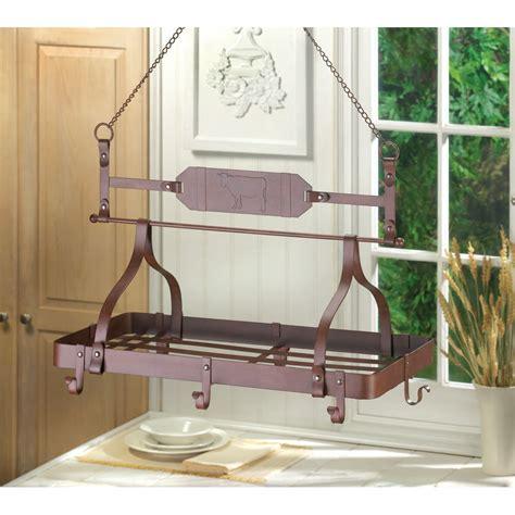 Kitchen Hangers Kitchen Rack Hanging Pot Pan Utensils Hanger Holder Ebay