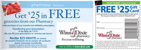 Winn Dixie Gift Card Deals - 25 winn dixie gift card prescription coupon who said nothing in life is free