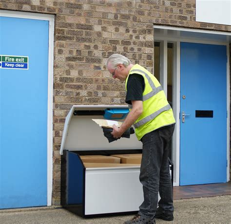 wheelchair accessible parcel delivery box secure pinpod lo