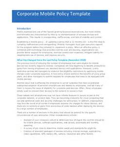 mobile phone policy template company policy template 14 free pdf documents