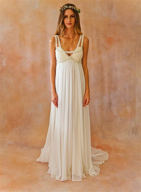 Brautkleider Bohemian by Embellished Bohemian Wedding Dress Dreamers And