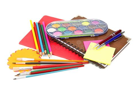 colorful office supplies royalty free stock image image set of office supplies royalty free stock image image