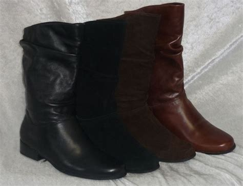 details about st s bay boots leather slouch