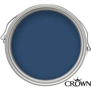 Christmas Kitchen Decorating Ideas Crown Solo Oxford Blue One Coat Gloss Paint 750ml