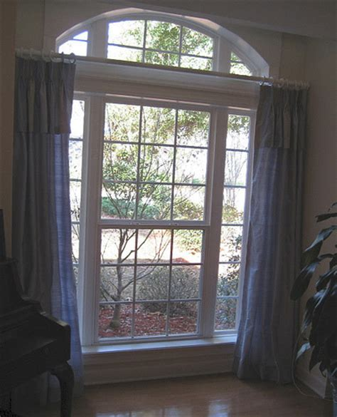 Curtains For Palladian Windows Decor Window Decorating Design Curtain Draperies Arch Half Moon Curtain Design