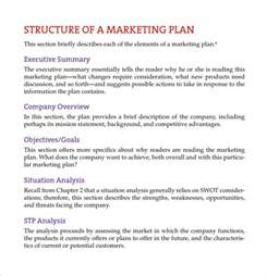 template of marketing plan sle marketing report template 9 free documents