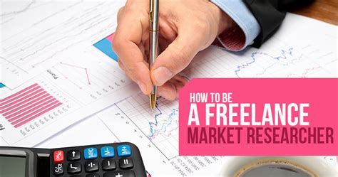 how to be a freelance market researcher market research work