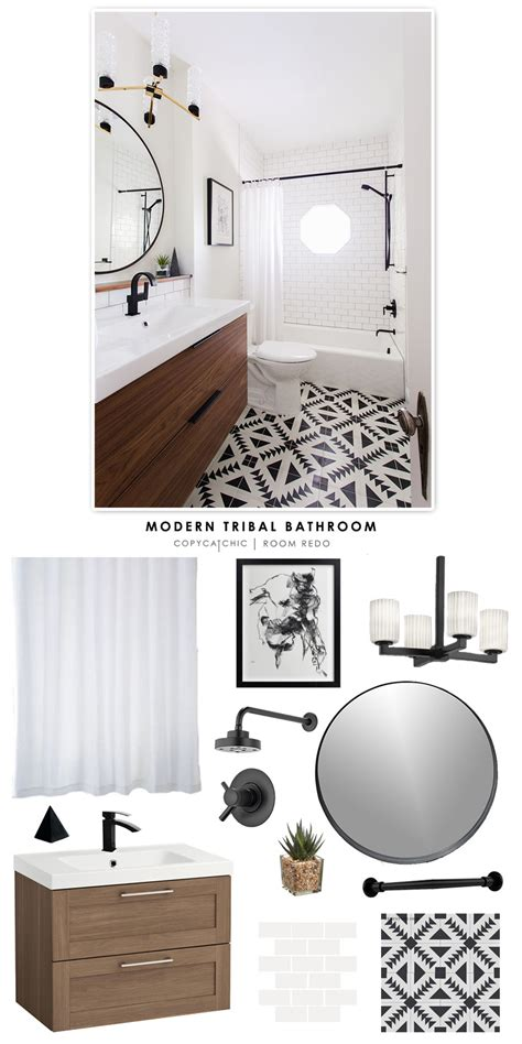 cheap modern bathrooms copy cat chic room redo modern tribal bathroom copy
