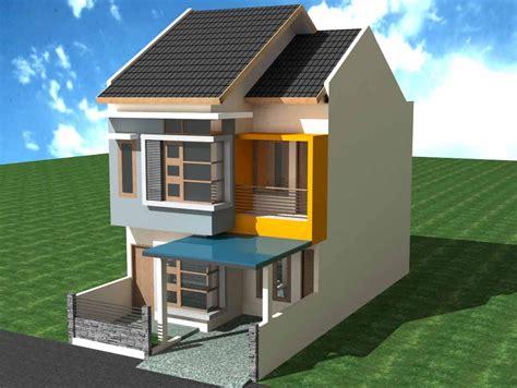desain rumah lantai 2 contoh gambar desain rumah minimalis type 45 1 dan 2