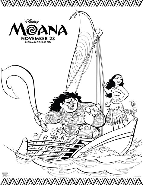 Coloring Pages Disney Moana | disney s moana coloring pages and activity sheets printables