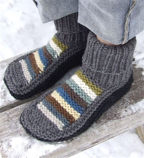 knitted slipper patterns 487 best images about knit mitts slippers on