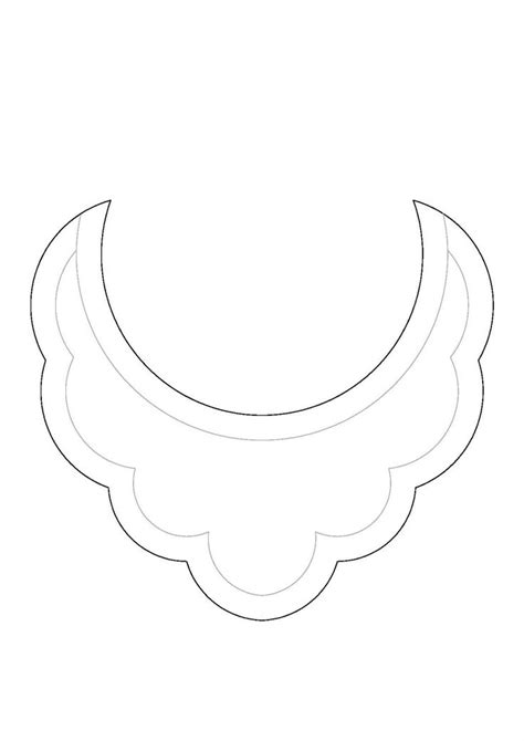 diy patr 243 n collar babero bib necklace pattern collares