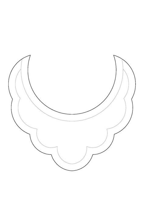 bib necklace template diy patr 243 n collar babero bib necklace pattern collares